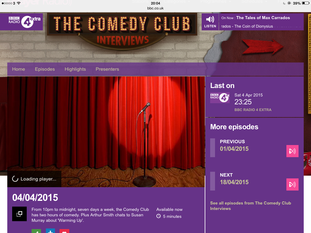 Comedy Club Screenshot Radio 4